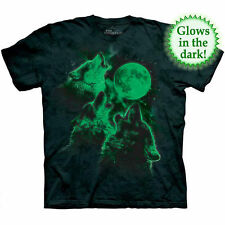 Wolf Wolves GLOW IN THE DARK Moon T Shirt The Mountain Adult Tee S-3XL 4XL 5XL