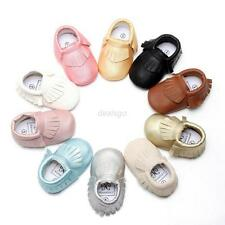 Baby Tassel Soft Sole Leather Shoes Infant Boy Girl Toddler Sneakers 0-18M Cute
