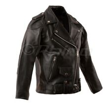 Ladies Brando Leather Jacket, Motorcycle Biker Jacket