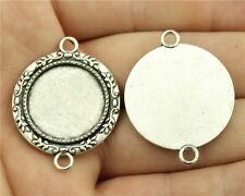 20pcs fit 20mm Cameo Cabochon Bronze or Silver Branch Connectors Base Setting