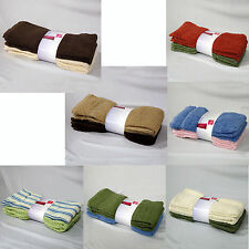 SET of 4 - 100% Cotton Budget 400gsm Bath HAND Towels Cloth 40cm x 60cm