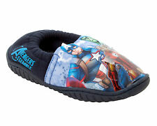 BOYS OFFICIAL MARVEL AVENGERS CHARACTER SLIPPERS WITH FLASHING LIGHTS SIZE 10-3