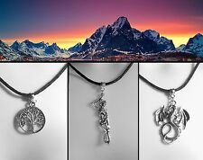 Lord of the Rings Thong Necklace Middle-earth White Tree of Gondor Dragon Gift