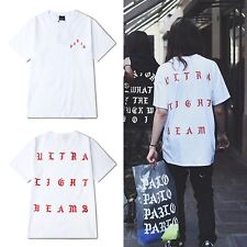 Fashion Western KANYE WEST PARIS YEEZUS Short Sleeve T Shirts Hip Hop Clothes