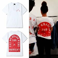 White Red Western KANYE WEST PARIS YEEZUS Short Sleeve T Shirt Fashion Clothes