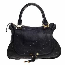 Chloe Marcie Shoulder Bag Studded Leather Large
