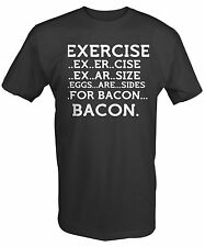 BACON EXERCISE EGGS ARE A SIDE LOVERS COLLEGE Funny Adult Tee Shirt