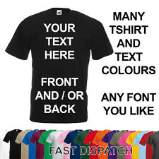 CUSTOM PERSONALISED DESIGN YOUR OWN T SHIRTS TEE STAG HEN HOLIDAY PARTY S-XXL