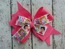 "Boutique Little Sister Pink Double Layer Hair Bow 4"" Clip or Barrette"