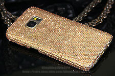 Handmade Luxury Bling Champagne Austria Crystal Case Cover For Samsung Galaxy