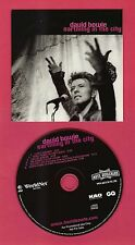 David Bowie  Earthling in the City PROMO CD RARE! 3 LIVE TRACKS OOP! FREE SHIP
