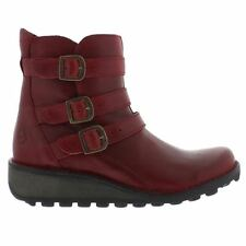 Fly London Myso Rug Red Womens Boots