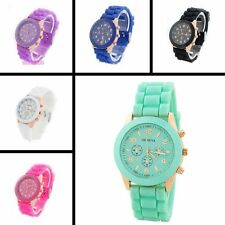 Fashion Unisex Mens Womens Sport Silicone Strap Casual Style Quartz Wrist Watch