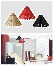 """Ikea""""Ryssby 2014""""Pendant Lamp SHADE Black,Red,Natural 17""""Wood NEW Wooden Light"""
