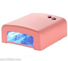 New 36W UV Nail Art Lamp Gel Curing Tube Light Dryer 220V EU Plug