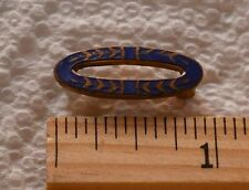 ENAMEL BLUE OVAL VINTAGE DOLL BAR PIN VINTAGE JEWELRY ANTIQUE AS FOUND