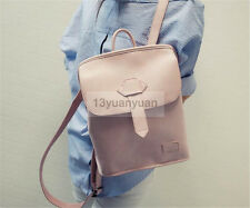 Fashion PU Leather Travel Shoulder Women Satchel Backpack School Bag Handbag