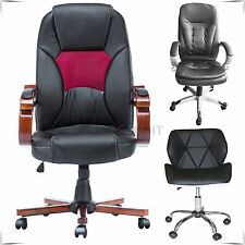 Modern Luxury Leather Swivel Seat High Back Computer Executive Office Desk Chair