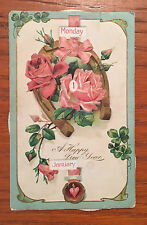 One Happy New Year Postcard Vintage about 1905