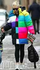 ADIDAS ORIGINALS JEREMY SCOTT HOODED TV COLOR BARS PUFFER JACKET GWEN STEFANI XL
