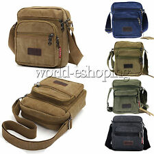 New Mens Vintage Canvas Shoulder Bags Satchel School Messenger Crossbody Handbag