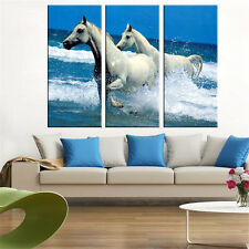 Modern Animal Horses OiL Canvas Painting Art Work for Wall Home Decor Poster 3PC