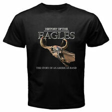 History of the Eagles Tour Rock Band Legend Men's Black T-Shirt