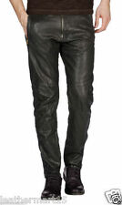 New Men's Designer Tailor Made soft Genuine Lambskin Leather Casual Pant LP015