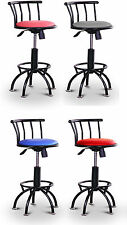 "FCR9 24-29"" ADJUSTABLE BLACK METAL SWIVEL SEAT BAR STOOLS KITCHEN LADY MAN CAVE"