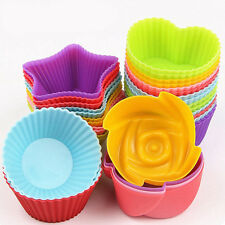 Silicone Baking Cup Liner Cupcake Cake Chocolate Mold Muffin Pudding Jelly Mould