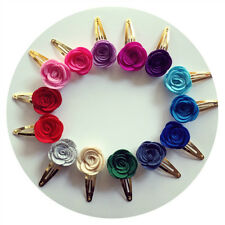 10pcs/Lot Colorful Flowers Baby Kids Girls Hair Clips Hairpins Hair Accessories