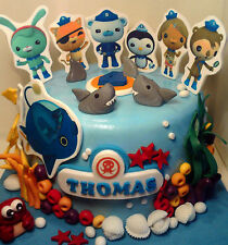 Personalised handmade Octonauts cake topper icing decoration edible birthday