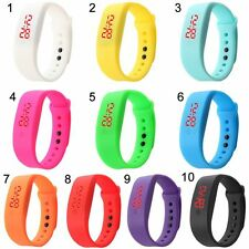 Silicone LED Men Womens Watches Sport Watch Bracelet Digital Jelly Wrist Watches