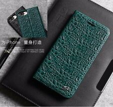 Luxury Crocodile Pattern Cow Leather Flip Case Cover For Apple iPhone X 7 8/Plus