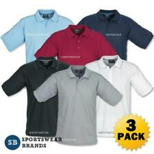 3 x Mens Resort Polo Shirt Top Office Business Casual Sports Size S-5XL P9900