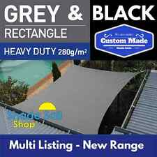 Shade Sail Rectangle Grey New 280gsm Multi Sizes New Range of Quality made Sails