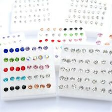 Hot 40 PCS Wholesale Lots Charming Clear Rhinestone Crystal Ear Studs Earrings