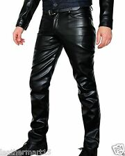 Men Leather Pant Trouser Genuine Lambskin Pure Leather Soft Sexy Trouser Pant 03