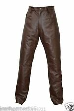 Men Leather Pant Trouser Genuine Lambskin Pure Leather Soft Sexy Trouser Pant 05