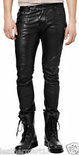 Men Leather Pant Trouser Genuine Lambskin Pure Leather Soft Sexy Trouser Pant 06