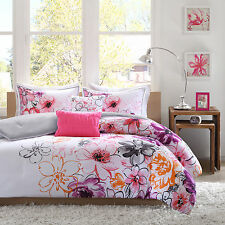 Colorful Beautiful Pink Fusia Floral Gir 5-PC Comforter Set Twin Full/Queen King