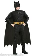 Boys Batman Deluxe Muscle Chest Superhero Book Day Fancy Dress Up Costume Outfit