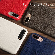 Luxury PU Ultra-thin Crocodile Soft Skin For Apple iPhone 7 /7 Plus Case Cover