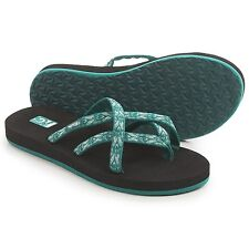 Teva Olowahu Thong Women Sandals - Mush® Footbed  Sz7-1 Waterfall or Stone Green