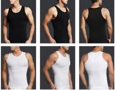 3 pk Mens Slimming Shirt Compression Vest Mens Slimming Body Shaper undershirt