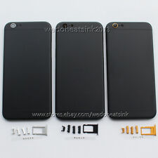 Pure Black Housing Back Battery Cover & Mid Frame Assembly for iPhone 6 6s Plus