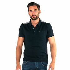 883 Police Mens Benson Navy Polo Shirt T-Shirt Tee Top Short Sleeve Front Pocket
