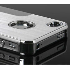 Hard Design Silver Luxury Steel Chrome Deluxe Case Cover For iPhone 5 6s&plus SE
