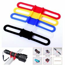 For Bike Bicycle Flashlight Torch Silicone Universal Handle Bar Holder Mount TO