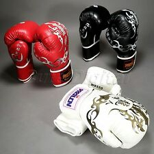 PU Leather Boxing Glove Muay Thai Sparring Punching Training Competition MMA UFC